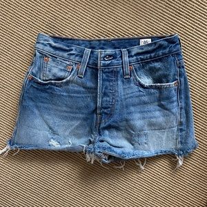 Levi's denim levi jean shorts